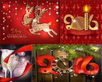 2016年圣诞节装饰矢量素材