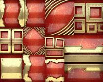 金属红背景边框摄影高清图片