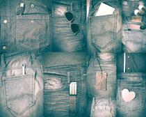 怀旧牛仔裤子摄影高清图片