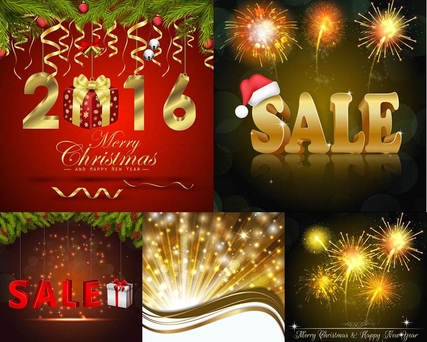 2016新年元素矢量素材