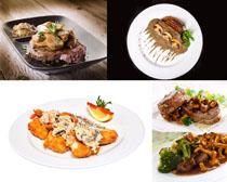 国外牛排美食摄影高清图片