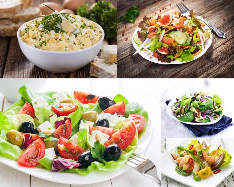 蔬菜沙拉美食