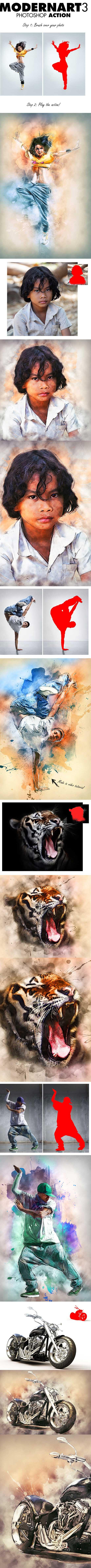 超酷的喷溅涂鸦背景特效PS动作