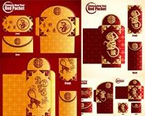 猴年主题剪纸红包尺量素材