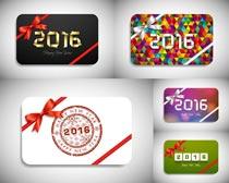 2016新年礼品卡矢量素材