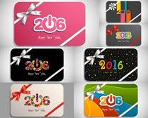 2016粉红卡片矢量素材