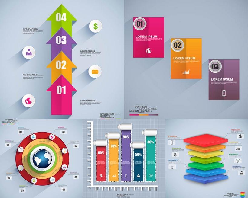 矢量素材 矢量图 设计素材 创意设计 设计元素 信息图表 流程图表