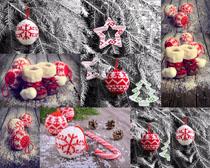 可爱圣诞小装饰摄影高清图片