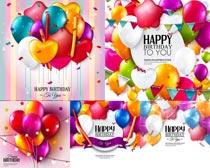生日庆祝气球矢量素材