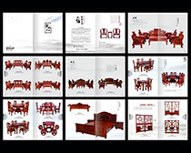 红木家具画册设计矢量素材