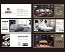 家居宣传画册设计矢量素材