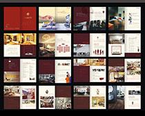 装潢公司宣传画册设计矢量素材