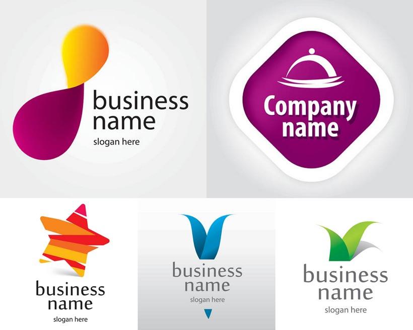 叶子logo设计矢量素材