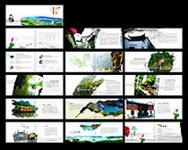 旅游文化宣传画册矢量素材