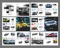 汽车欣赏画册设计矢量素材