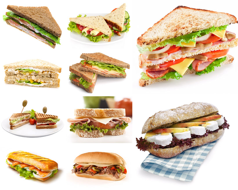 三明治面包摄影高清