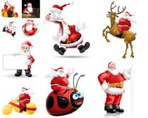 卡通圣诞老人拍摄高清图片