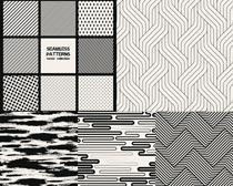 黑白几何斜纹图形矢量素材图片