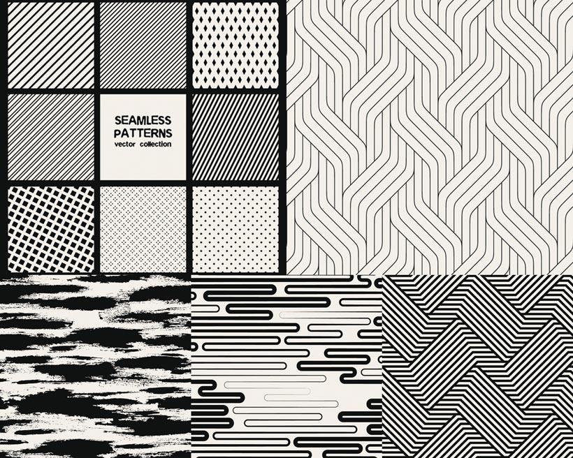 黑白幾何斜紋圖形矢量素材 - 愛圖網設計圖片素材下載