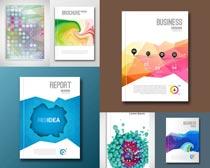 蓝色书籍封面设计矢量素材