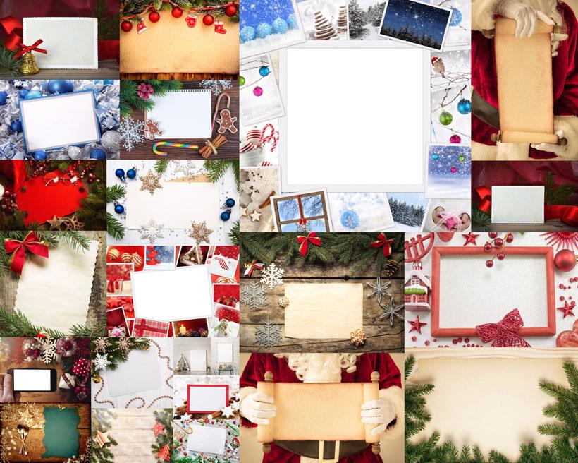 圣诞相框边框素材装饰素材