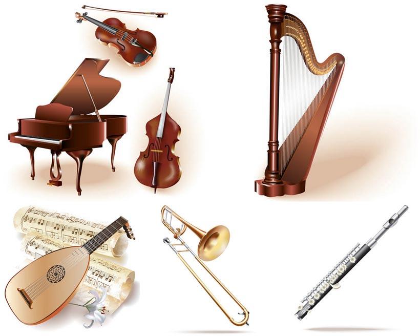 矢量图 设计素材 乐器 曲谱 五线谱 乐谱 花朵 鲜花 百合花 小提琴 琴