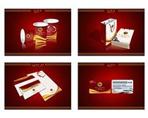 紅色包裝VI設計PSD素材