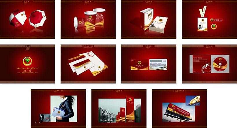 红色包装VI设计PSD素材