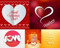 红色爱情元素设计矢量素材