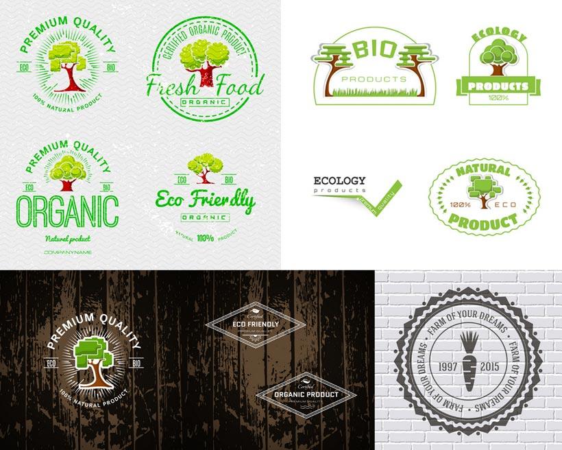 绿色环保大树标志矢量素材