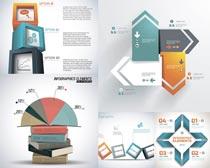 统计图表书本设计矢量素材