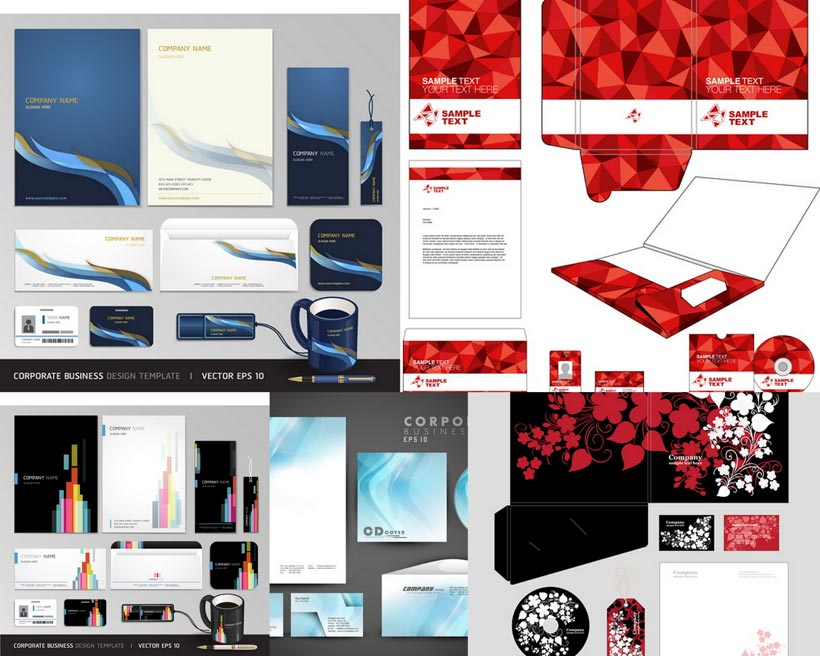创意VI系统设计矢量素材