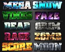 游戏风格PS字体样式
