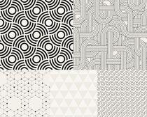黑白四方连续文集矢量素材图片