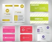 簡潔粉紅色卡面版面矢量素材