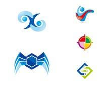 尖角标识设计矢量素材