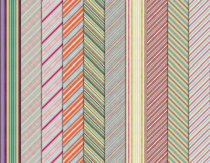 彩色条纹斜纹ps填充图案