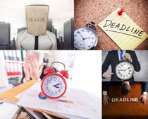 商务时间钟表摄影高清图片