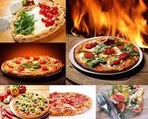 辣椒披萨摄影高清图片