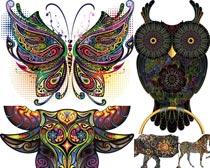 猫头鹰花纹图案时时彩平台娱乐