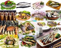 海鲜鱼类食物原料摄影高清图片