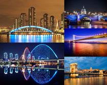 夜景橋梁攝影高清圖片