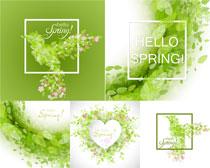 创意绿色叶子主题矢量素材