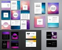 紫色光斑散景卡片设计矢量素材