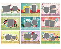 2016儿童相册模板台历设计PSD素材