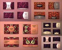 红花向阳花背景设计矢量素材