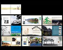 旅游景点画册设计矢量素材
