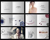 珠宝画册设计矢量素材