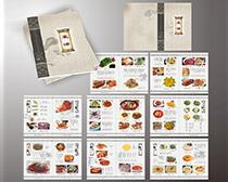 古香古色菜谱设计矢量素材