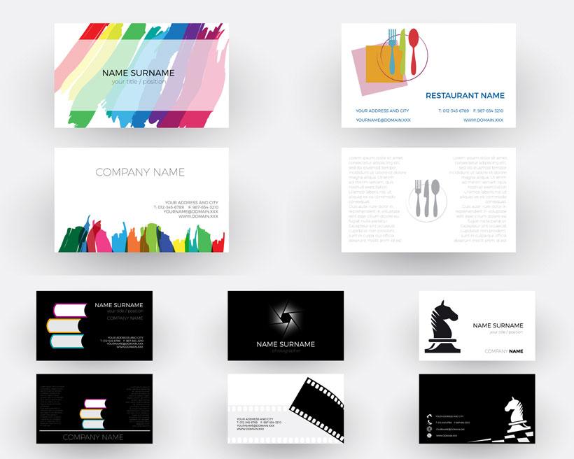 企业高档名片设计模板矢量素材